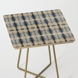 Shibori Linen Flax Side Table