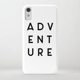 Adventure Minimalist Quote iPhone Case