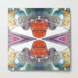Colourful Doom Mask Metal Print