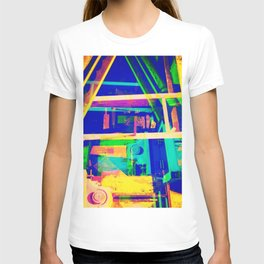 Industrial Abstract Blue T-shirt