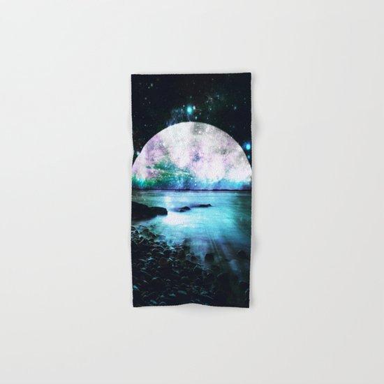 Mystic Lake Teal Violet Hand & Bath Towel