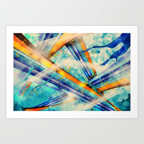 ABSTRACT - Vintage Version Art Print