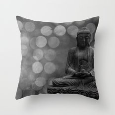 buddha light (gray) Throw Pillow