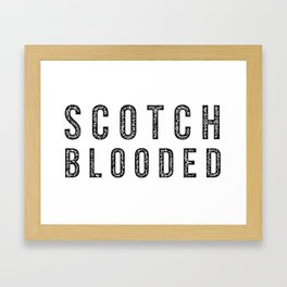 Scotch Blooded Framed Art Print