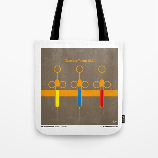No165 My Planet terror minimal movie poster Tote Bag
