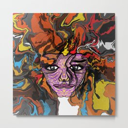 The windy color girl Metal Print