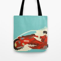 akira Tote Bags featuring Akira by Danny Haas