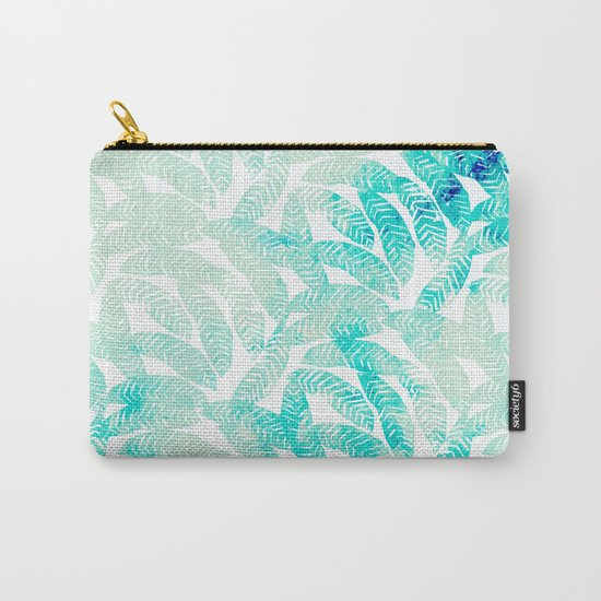 Painted Leaf Evolution #society6 #decor #buyart Carry-All Pouch