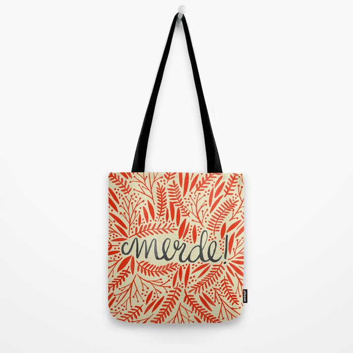 Pardon My French – Red on Cream Tote Bag