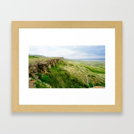 Buffalo Jump Framed Art Print