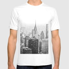 NYC Skyline MEDIUM Mens Fitted Tee White