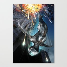 The Silver Ninja Night Explosion Canvas Print