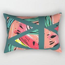 Green Watermelon pattern Rectangular Pillow