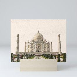 ArtWork Taj Mahal India Paint Painting Mini Art Print