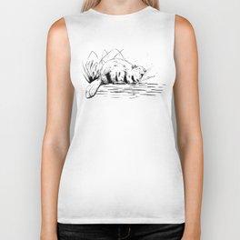 Beaver Yawn Biker Tank