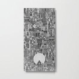 space city mono bw Metal Print