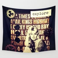 explore Wall Tapestries featuring Explore by LadyJennD