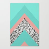 90s Canvas Prints featuring 90s Chevron by Zeke Tucker