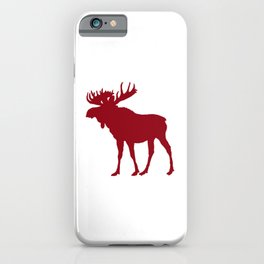 Moose: Rustic Red iPhone Case