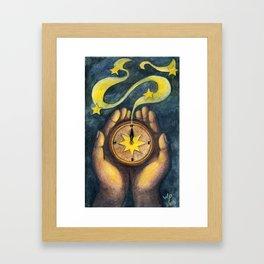 Compass of the Stars Framed Art Print