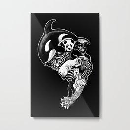 Monochromanimal (black) Metal Print