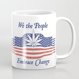We the People US Flag Cannabis Tee Coffee Mug