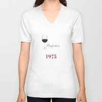 1975 V-neck T-shirts featuring Aged To Perfection 1975 by sophiafashion