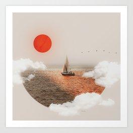 Golden Hour - Digital Collage Art Print