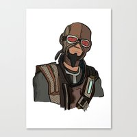 borderlands Canvas Prints featuring borderlands mordecai by  Steve Wade ( Swade)