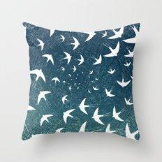 Birds Circle Throw Pillow
