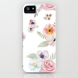 Floral I - White iPhone Case