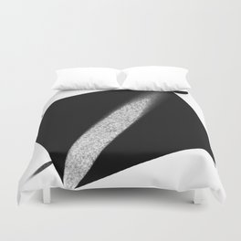 White Flash on Black Duvet Cover