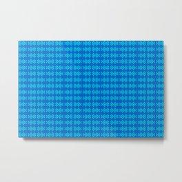 2706 Simply duotone pattern ... Metal Print