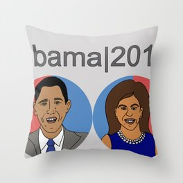Obama, 2012 Throw Pillow