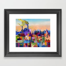 Spring Flowering over the Rooftops Framed Art Print