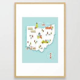 Ohio Map Framed Art Print