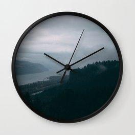 Crown Point Blue Wall Clock