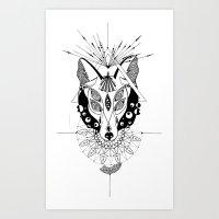 hypnotizing fox Art Print