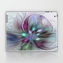 Colorful Fantasy Abstract Modern Fractal Flower Laptop & iPad Skin