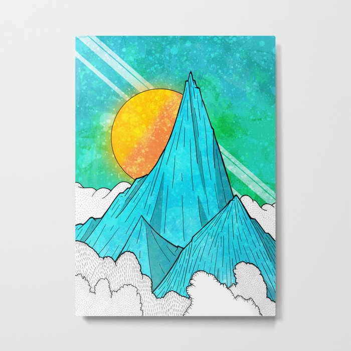 The Highest Peak Metal Print