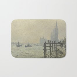 Claude Monet - The Thames Below Westminster Bath Mat