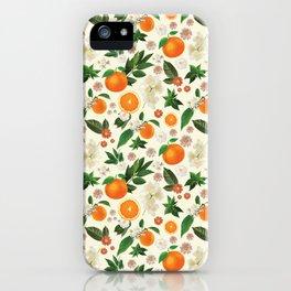Clementine Crush in Cream iPhone Case