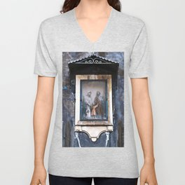 Sicilian Facade of CATANIA Unisex V-Neck