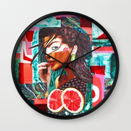 Kissed by the sun Wall Clock