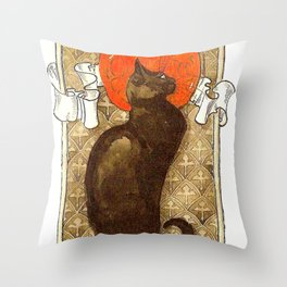 "Théophile Steinlen ""Cat"" Throw Pillow"