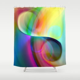 color whirl -30- Shower Curtain