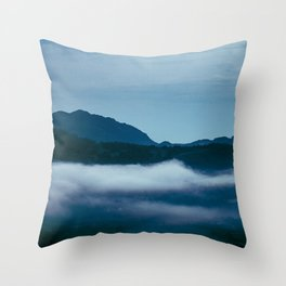 Snowdonia Cloud Inversion (Summer 2019) Throw Pillow