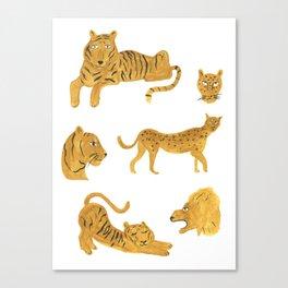 Tiger Lion Cheetah Canvas Print
