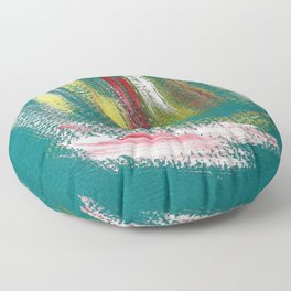 Cosmic blue turquoise Floor Pillow