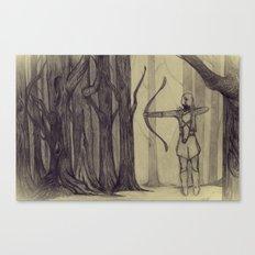 Legolas LOTR - the noisy silence of woods Canvas Print